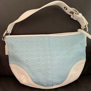 EUC Authentic Coach light blue shoulder bag